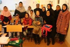 One day teacher at an English language club in Iran