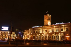 Moscow station in St. Petersburg. In Russia, they name the station after the destination.